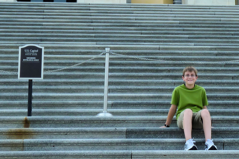 Anthony, on the front steps to the Capitol