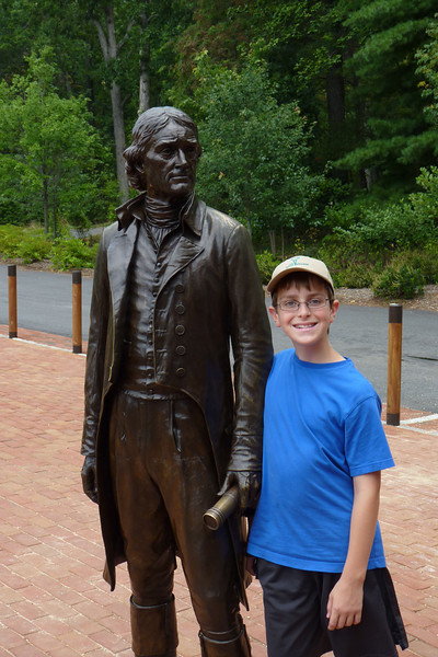 Anthony with Thomas Jefferson
