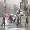 Yikes!  Wedding photos in the rain.