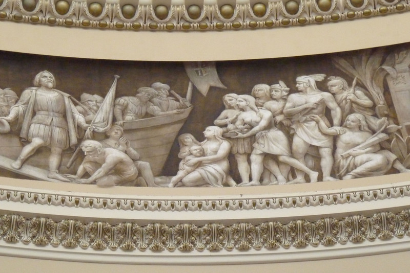 Frieze in the Capitol Rotunda