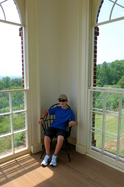 Anthony in the Garden House at Monticello