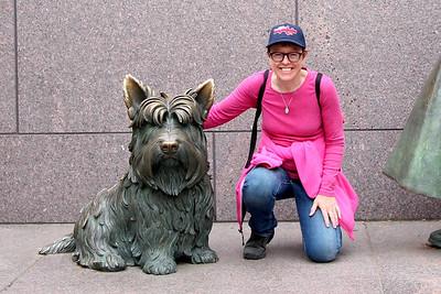 FDR Memorial.  Fellow pet lover.