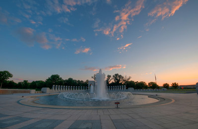 "15 Aug 2011 : DC – the tour continues.   So I feel that I need to give you a taste of what my poor brother went through while visiting DC.  To start off, check your watch.  If the time is earlier than 5am, then continue reading.  If, however, the time is later than 5am, please set your alarms for 4:45am tomorrow morning.  When the alarm goes off, you can continue reading.  Now – have you had any coffee yet today?  If not, please continue reading, however if you have, please revert to setting your alarm, and try again.  Right – at this point, your eyes should still be battling to focus, and your brain should still be in standby mode.  That means we are ready to go and photograph the sunrise – yipeee …..? Come on!!  Feel the excitement!  In preparation for our morning activity, you should have several infomercials recorded on your iPod.  You can now play them back at triple speed – making sure to take in all the salient points (you will be quizzed later).  That's probably how he felt for the past few weeks with me dragging him around to see the sights.  I did hear that his doctor says he should be okay with some extensive therapy, but that he should avoid sunrises, and try to stay away from things that go ""Click"".  Seriously though – it is the best time to get really good shots.  Not only is the light fantastic, but when else do you have a national memorial all to yourself (and your psycho brother).  See more of the DC tour (and WW II memorial) at http://lighttrap.smugmug.com/Travel/Washington-DC-2011/18539444_h7BZmV"