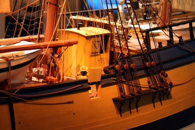 Detailed ship model at the National Museum of American History