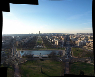 Looking west over National Mall at the Washington Monument