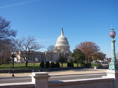 Rear of the Capitol Building, from outside the Library of Congress