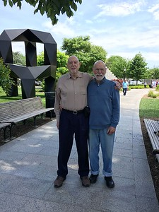Nick and Naphtali in the National Gallery Sculpture Garden