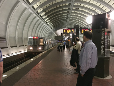 DC Metro Friendship Heights station, Bethesda, Maryland