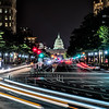 Night view of U.S. Capitol from Pennsylvania Avenue