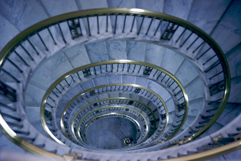 Spiral Staircase from the library level