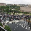 View of March for Science, from the Newseum