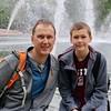 Steve and Daniel in the Hirschorn Sculpture Garden