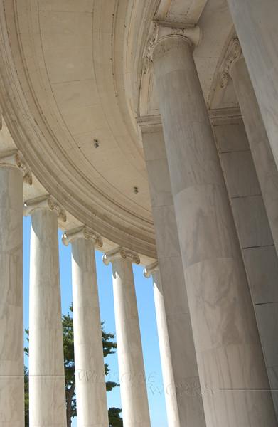 Ionic Columns, Interior of Jefferson Memorial