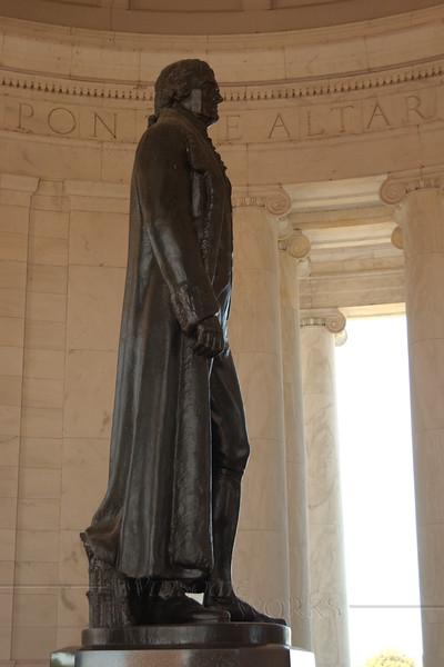 Jefferson Memorial  (by sculptor Rudolph Evans)