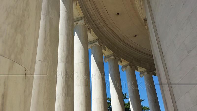 Ionic Columns wide angle - Jefferson Memorial
