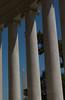 Washington Monument through Columns of Jefferson Memorial