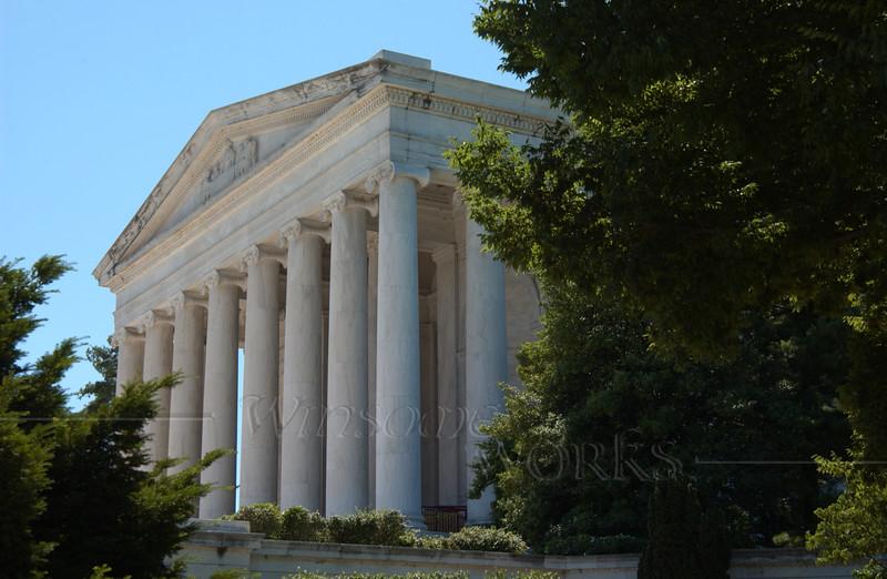 Jefferson Memorial, in neoclassical style
