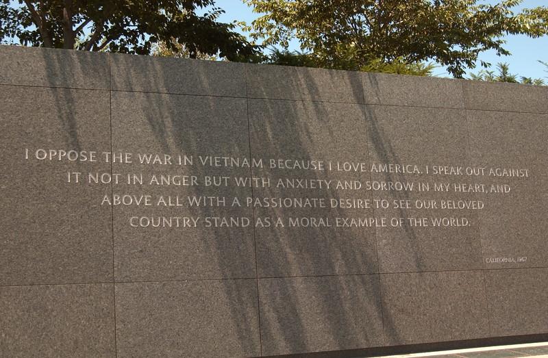 MLK quote near memorial entrance  - Washington, D.C.
