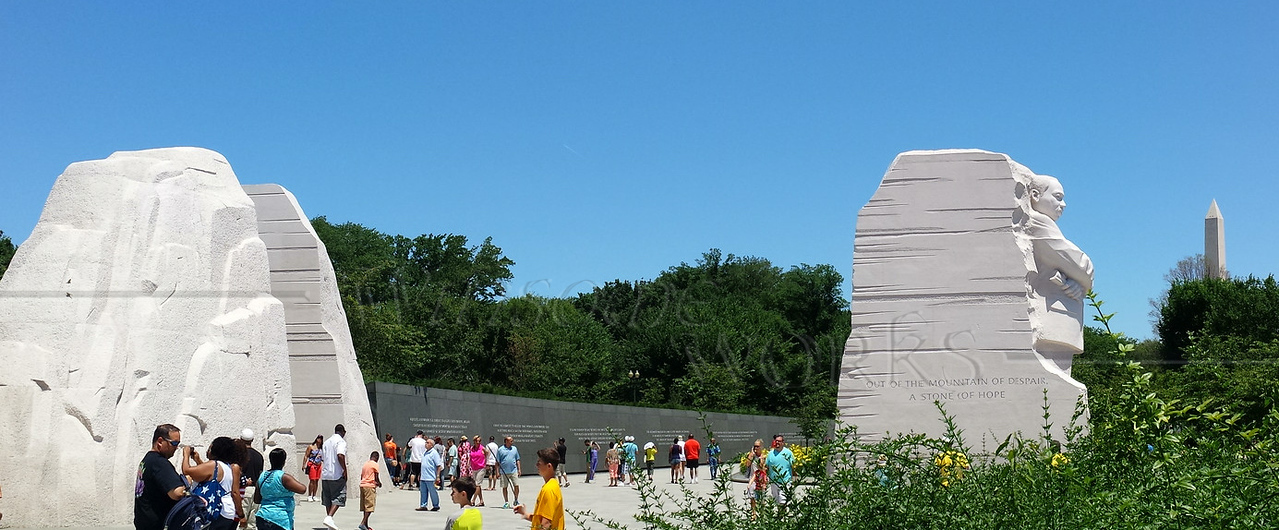Panorama of the new Martin Luther King Jr. Memorial - Washington, D.C.