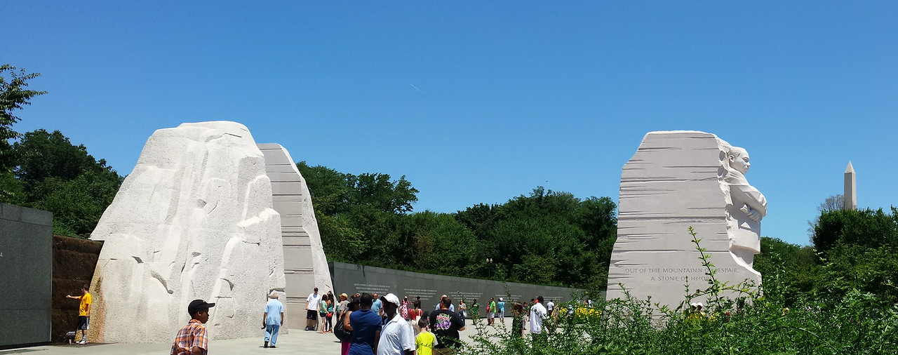 Panorama of the new Martin Luther King, Jr. Memorial