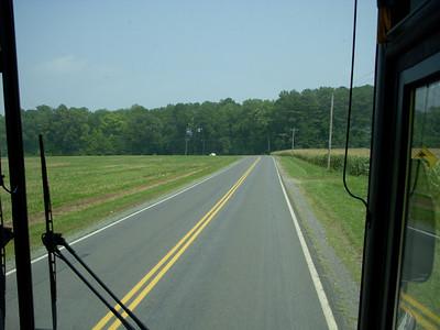 A coach trip to a field display