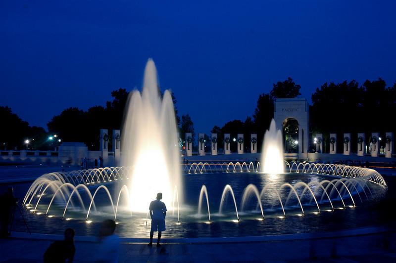 World War II Memorial at Night