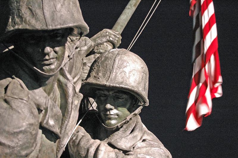 Detail, Iwo Jima Mem. at Night