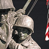 Detail, Iwo Jima Mem. at Night