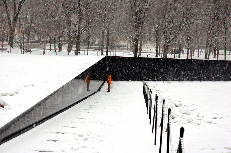 Vietnam Wall In Winter