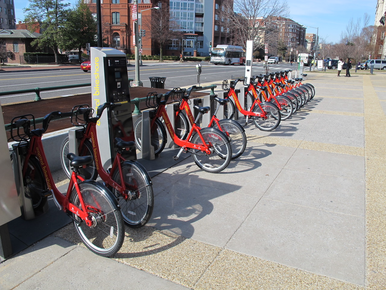 Washington DC Bikeshare terminal.