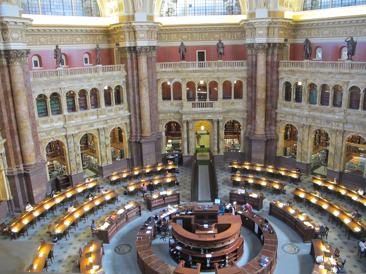 Library of Congress reading room.