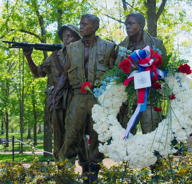 The Three Servicemen Statue at the Viet Nam Veterans Memorial