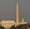Lincoln Memorial, Washington Monument, & US Capitol