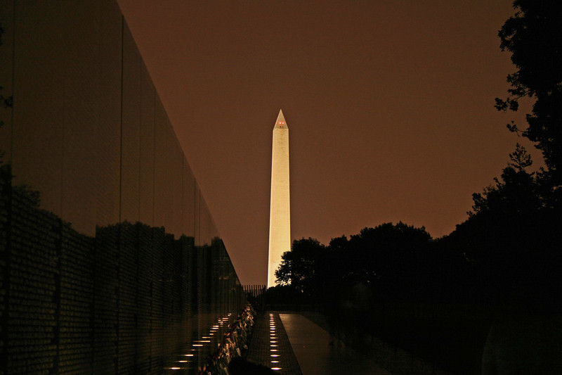 Washington Monument from Vietnam Memorial