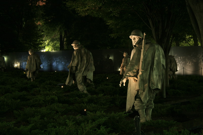 Korean War Memorial, Washington, D.C.<br /> I love how the reliefs show up in the wall on the right...