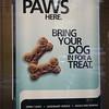 A poster outside a bank.  Pretty cool.