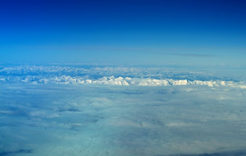 Wrangle Mountains, Alaska. As seen form 37,000 feet on the return flight to Anchorage.