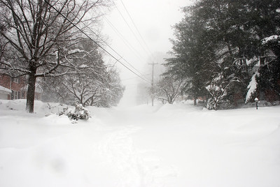 Blizzard Feb 10_Bethesda.  Street infront of house.