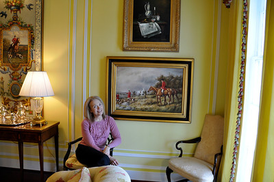 Marsha in living room of the Inn's central section.