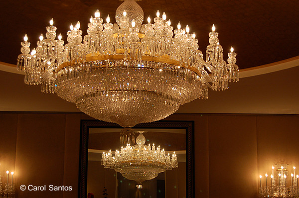 Chandeliers at the John F. Kennedy Center for the Performing Arts