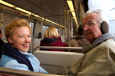Mother and Dad's first ride on the Metro Train.