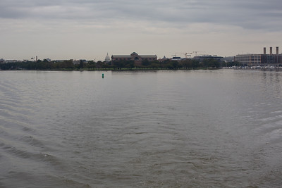 The confluence of the Potomac and Anacostia Rivers