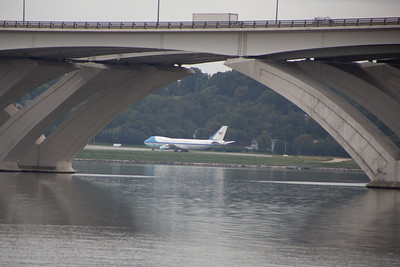 A retired Air Force One at National Harbor.