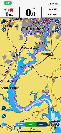 Day 1 Route - DC to the 301 Bridge (Thurs., 9/17/20)