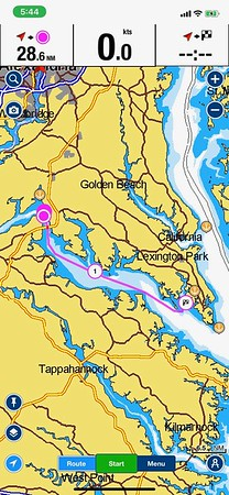Day 2 Route - 301 Bridge to St. Mary's River (Fri., 9/18/20)