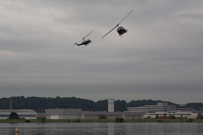 Helicopters in Washington Channel