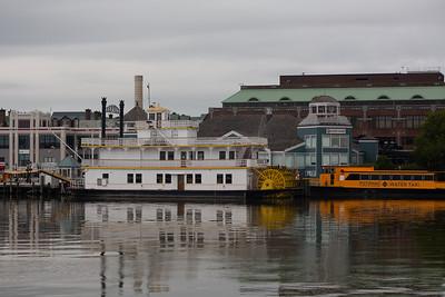 The Torpedo Factory and the Cherry Blossom in Alexandria, VA.