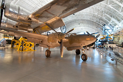 Lockheed P-38 Lightning, US WWII twin engined fighter.