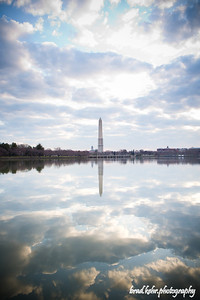 Washington Monument in the morning light.