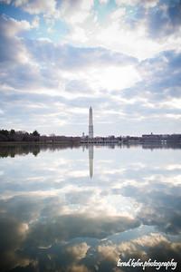 Washington Monument in the morning light.